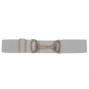ellany kingston elastic equestrian belt with rose gold snaffle