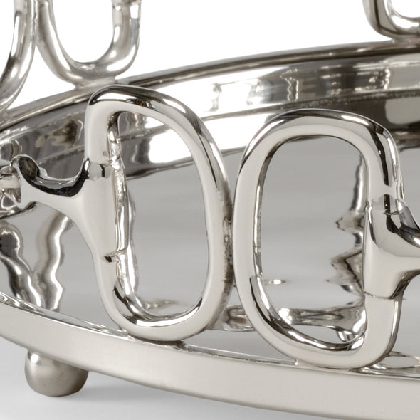 wildwood large equestrian horse bit tray polished silver