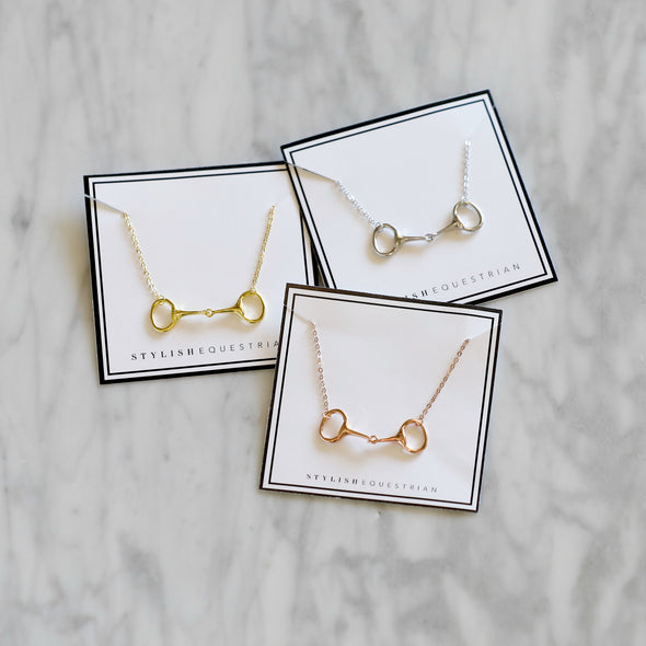 Equestrian Horse Bit Dainty Necklace Fashion Jewelry