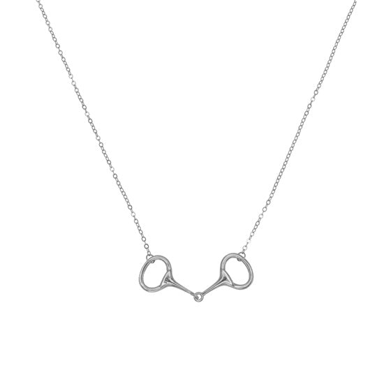 equestrian dainty jewelry silver bit necklace