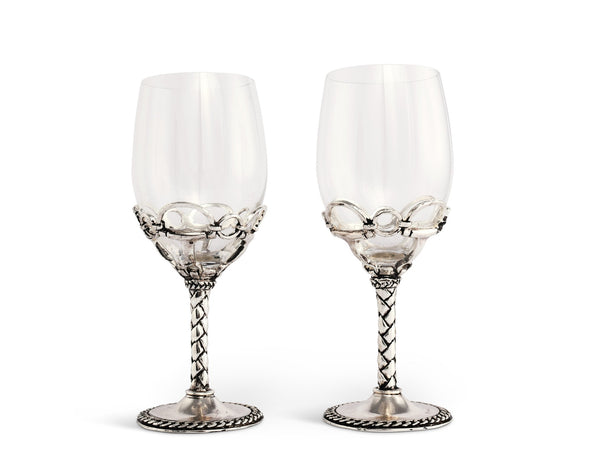 stylish equestrian arthur court horse bit wine glass