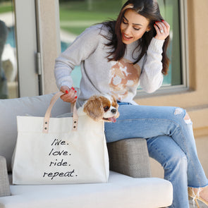 Mantra Tote Live Love Ride Repeat