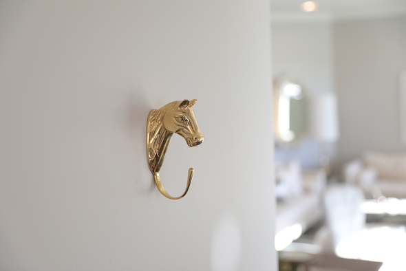 Nora Horse Hook Brass Equestrian Home Decor