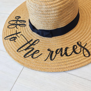 Off To The Races Floppy Hat Black