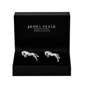 One Horse Race Cufflinks Equestrian Fine Jewelry
