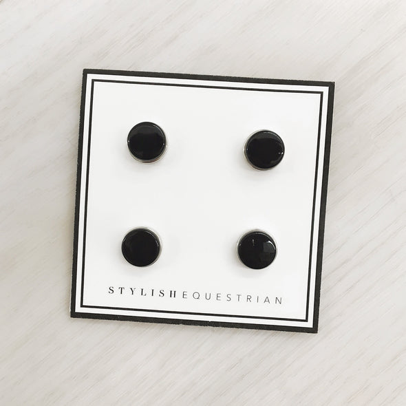 equestrian number back magnets black