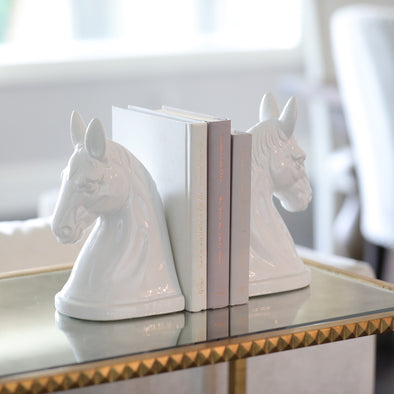 pippa porcelain white bookend seet