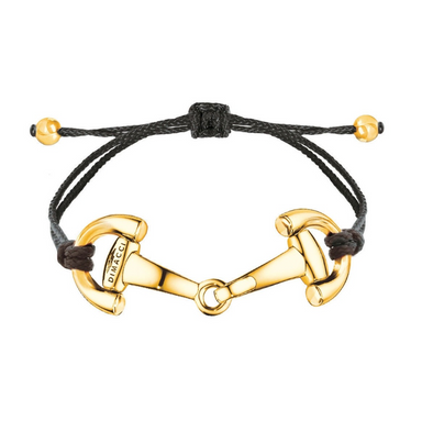 Black & Gold Pony Bracelet Equestrian Fashion Jewelry