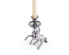 stylish equestrian arthur court rearing horse candle stick holder