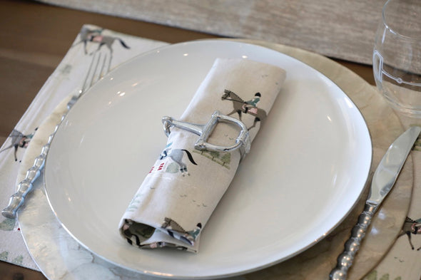 Rein Napkin Ring Set Equestrian Home Decor