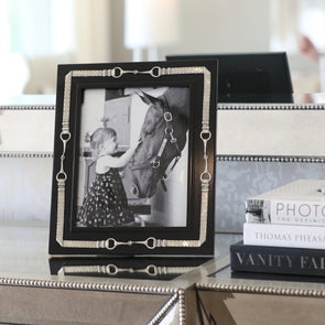 arthur court stylish equestrian sable black photo frame 8x10