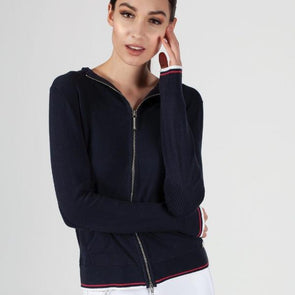 Shay Lightweight Zip Up Navy Equestrian Fashion Apparel