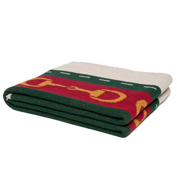 equestrian horse bit striped throw gucci