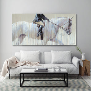 Summer Show Hunter Canvas Print Equestrian Art