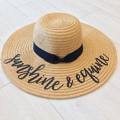 Sunshine & Equine Floppy Hat Black