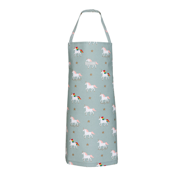 Unicorn Water Resistant Oilcloth Kids Apron