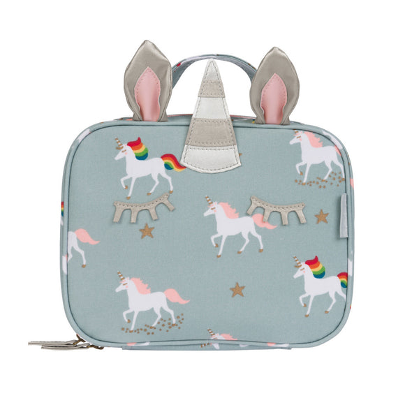 Whimsical Unicorn Oilcloth Lunchbox