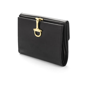 sage brown london willa small wallet in calf leather leather with equestrian snaffle bit clasp