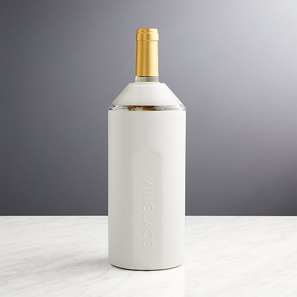 White Stainless Steel Wine Chiller