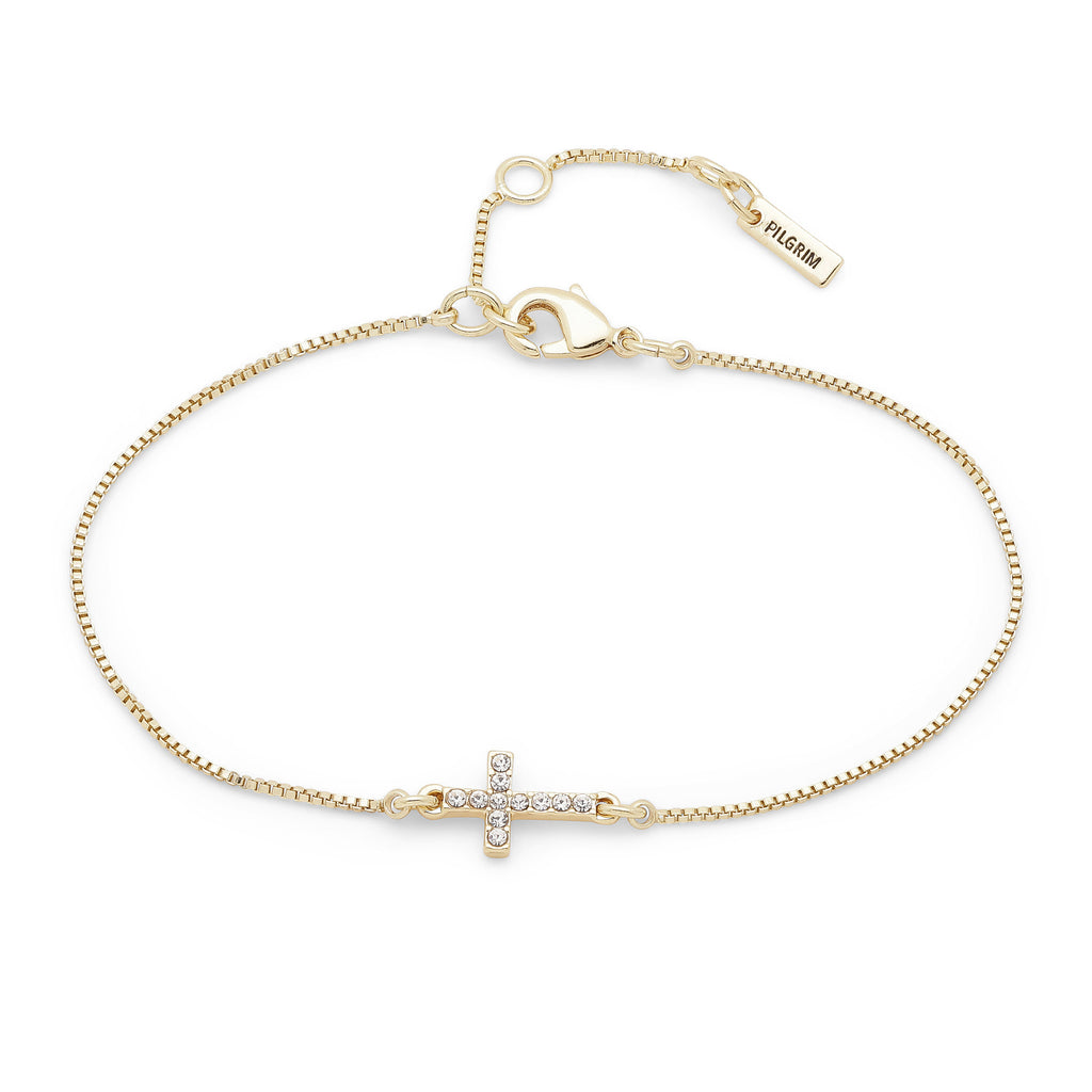 Clara Gold Cross Bracelet