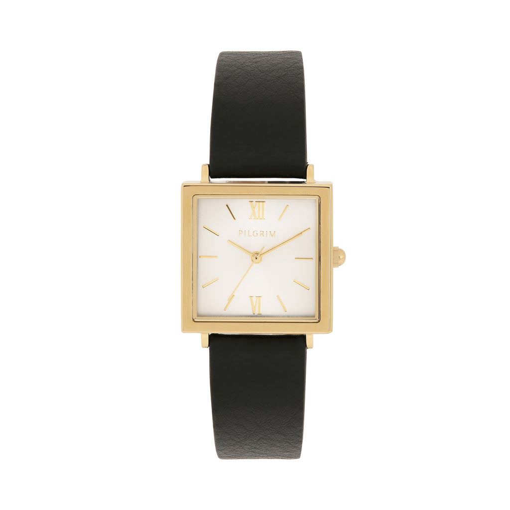 Bell Gold Leather Watch