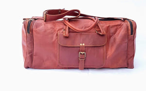"'Oak'  24"" Handmade Leather Duffle Bag"