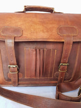 'Banksia' Handcrafted Leather Laptop Bag