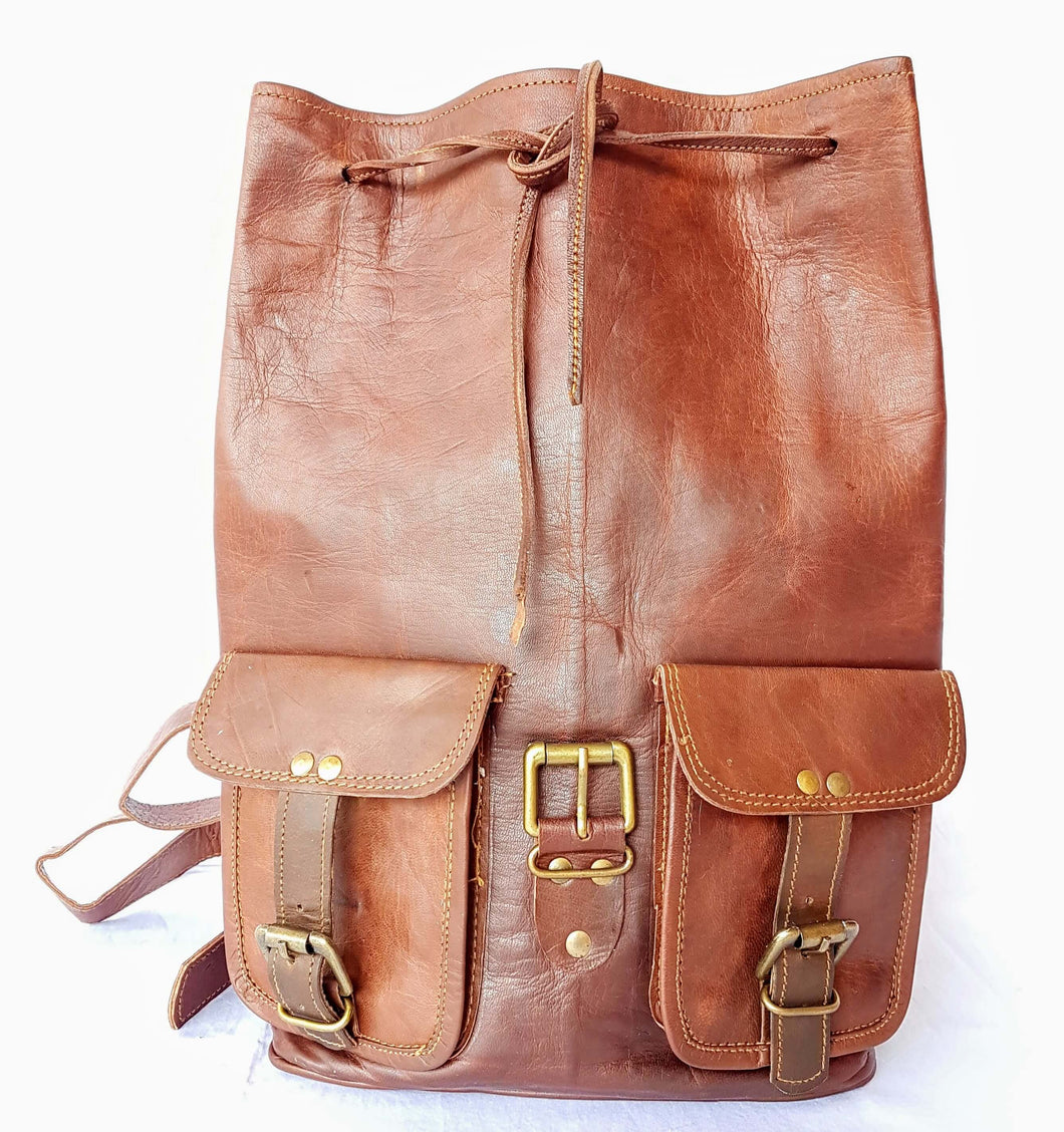 'Acacia' Leather Rucksack