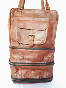 'Juniper' Handcrafted Expandable Leather Rucksack