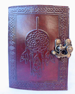 'Maclaey' Handcrafted Leather Bound Dreamcatcher Journal