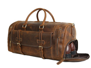 "'Alder' 20"" Full Grain Leather Duffle Bag"