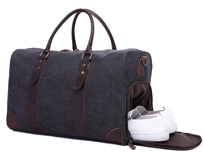 'Buckeye' Canvas Duffle with Leather Trim