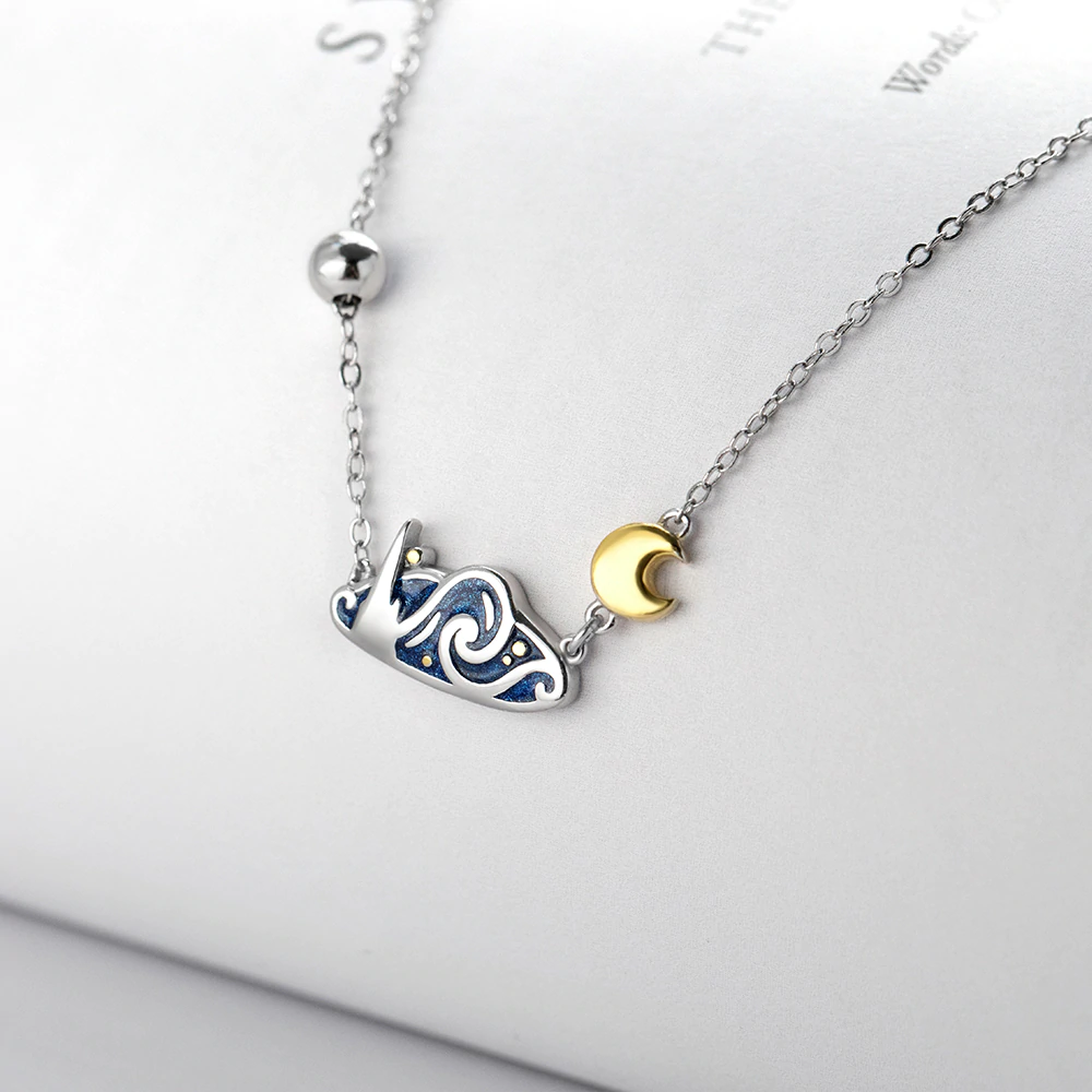 Best Van Gogh Inspired Necklace: The Silver Starry Night