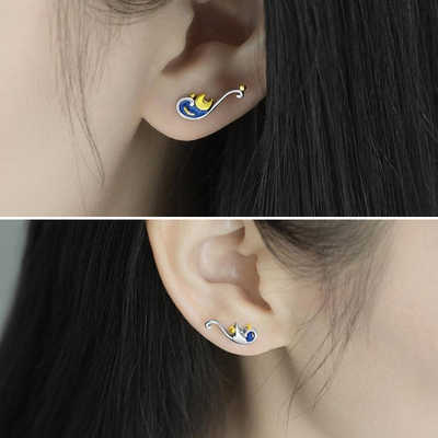 Starry Night Earrings - Her Exotica Jewelry