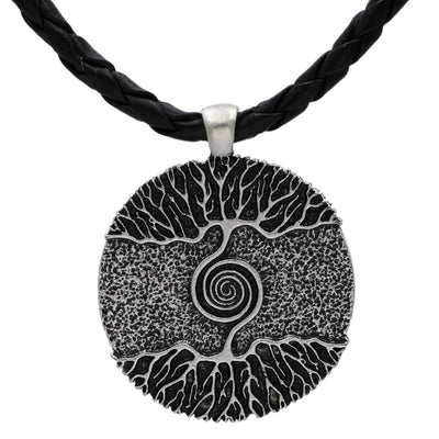 Frosted Tree of Life Necklace - Her Exotica Jewelry