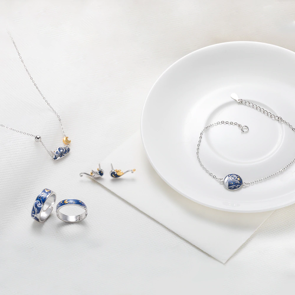 Starry Night Jewelry Set 5pcs