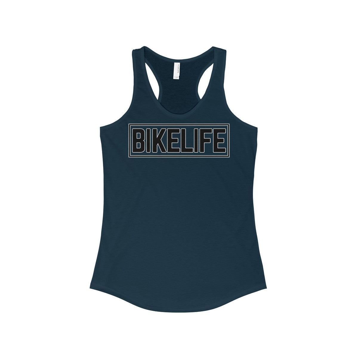 Bike Life Black and White Logo Women's Racerback Tank