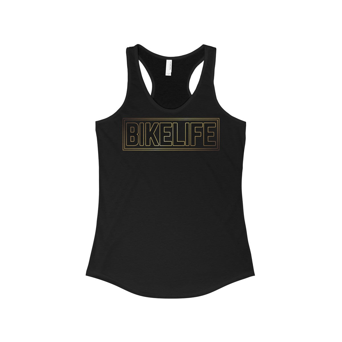 Bike Life Black and Gold Logo Women's Racerback Tank