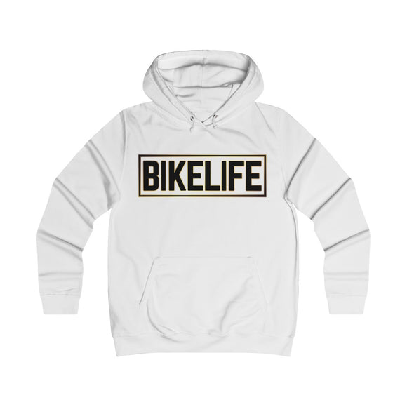 Bike Life Hoodie / Gold and Black Logo - Women's