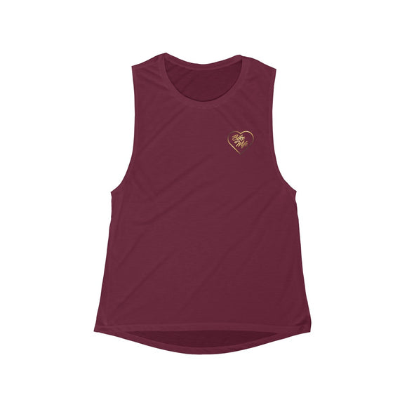 Bike Wife Gold Logo Women's Muscle Tank