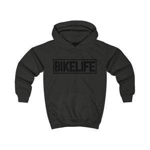 Bike Life Black Logo Youth Hoodie