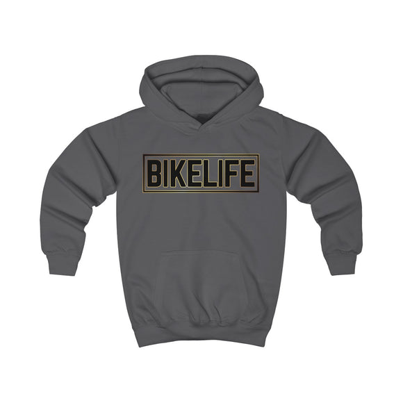 Bike Life Hoodie / Gold and Black Logo - Youth