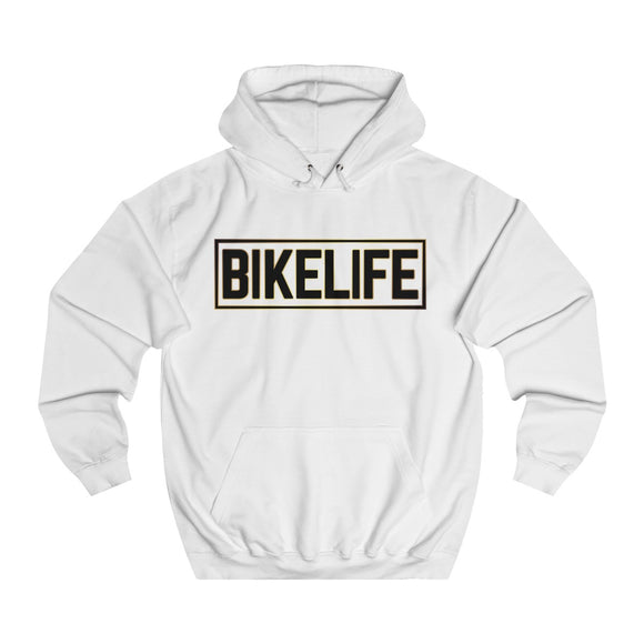 Bike Life Gold and Black Logo Adult Hoodie