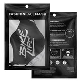 Bike Life Face Mask - White on Black