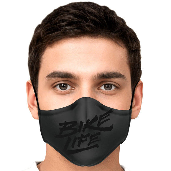 Bike Life Face Mask - Black on Gray