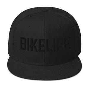 OG Bike Life Unisex Snapback - Black 3D Embroidery