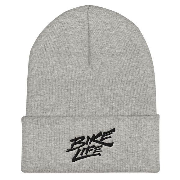 Bike Life Unisex Beanie - Black Embroidery