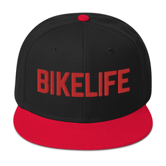 OG Bike Life Unisex Snapback - Red 3D Embrodiery