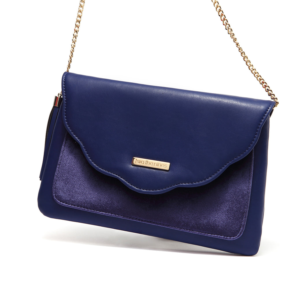 Envelope Evening Handbags in Dark Blue