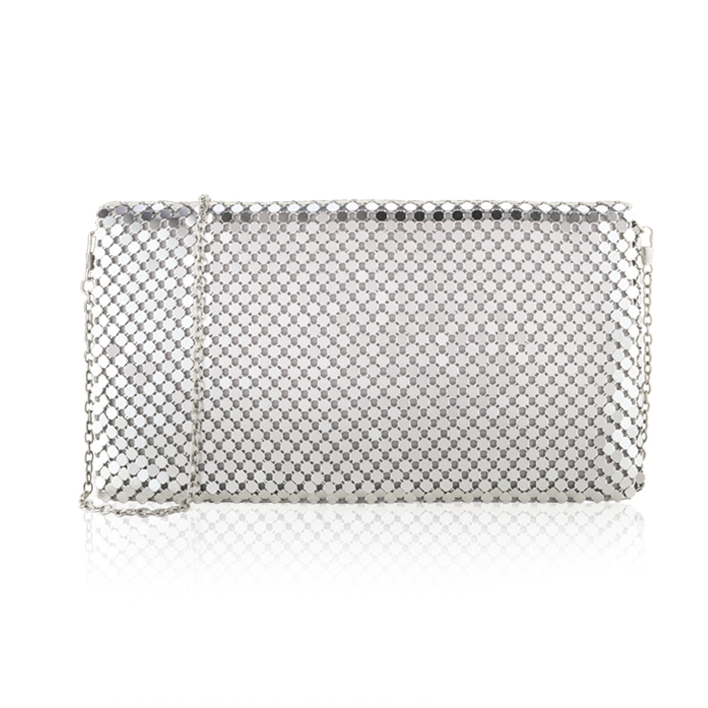 Two the nines Women's Sparkly Sequin Party Clutches Evening Bags Handbags Wedding Hardcase Clutch Purse